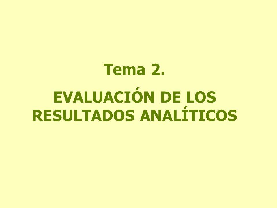 EVALUACIÓN DE LOS RESULTADOS ANALÍTICOS