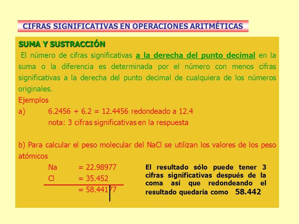 CIFRAS SIGNIFICATIVAS EN OPERACIONES ARITMÉTICAS