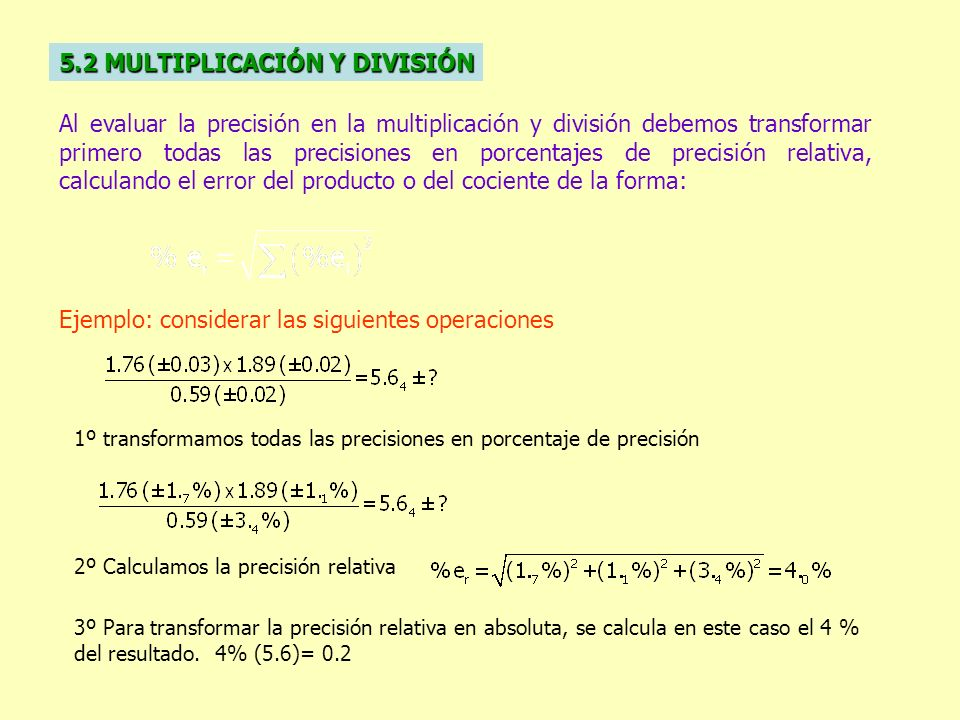 5.2 MULTIPLICACIÓN Y DIVISIÓN