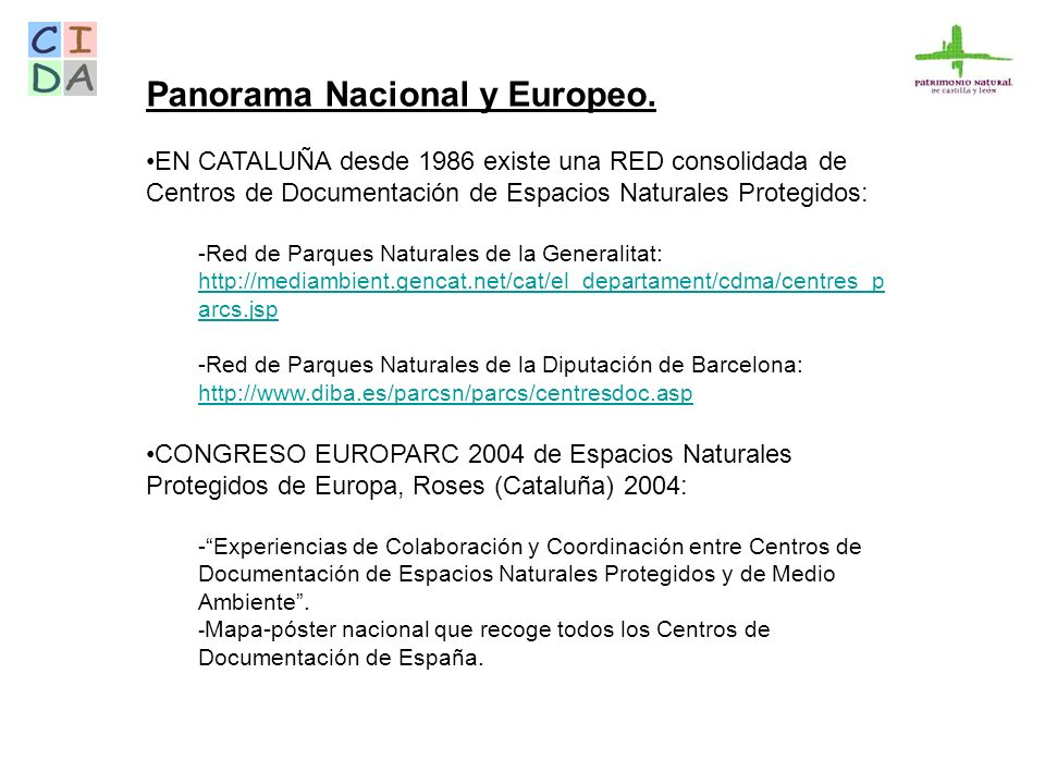 Panorama Nacional y Europeo.