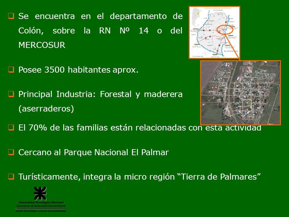 Se encuentra en el departamento de Colón, sobre la RN Nº 14 o del MERCOSUR