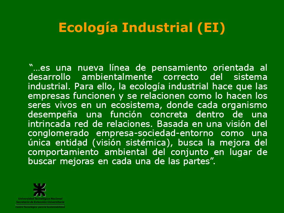 Ecología Industrial (EI)