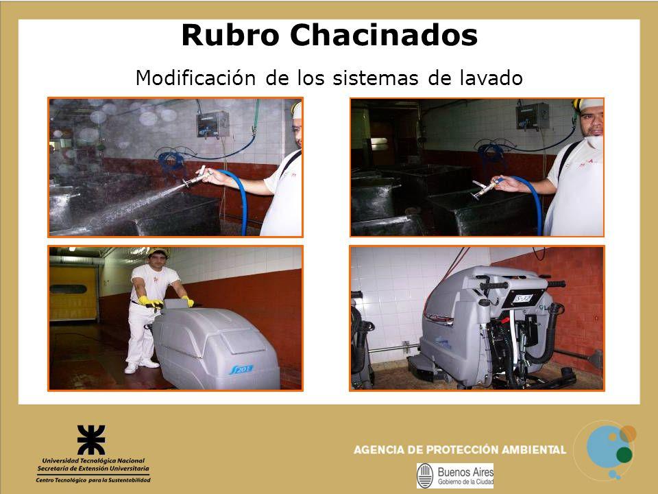 Modificación de los sistemas de lavado