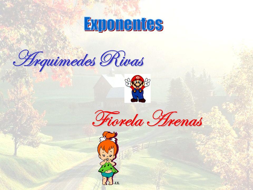 Exponentes Arquimedes Rivas Fiorela Arenas