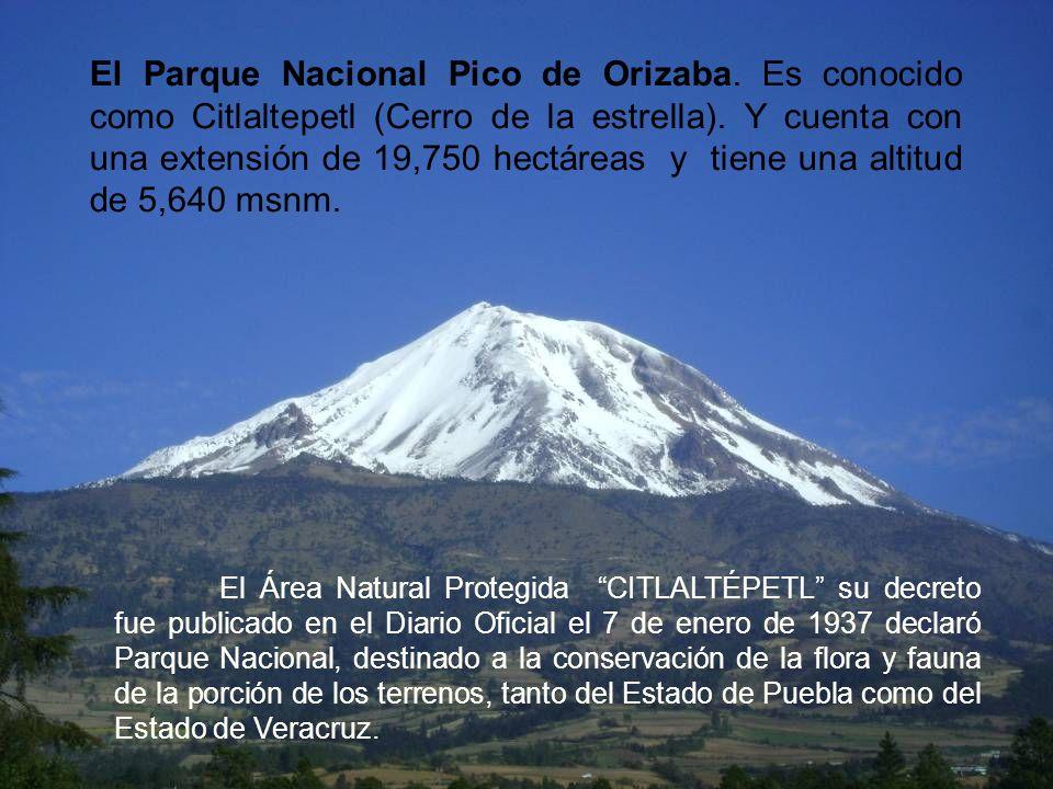El Parque Nacional Pico de Orizaba