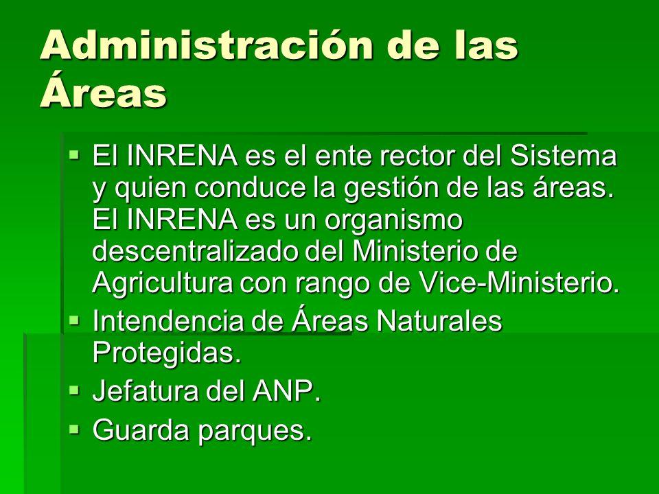 Administración de las Áreas