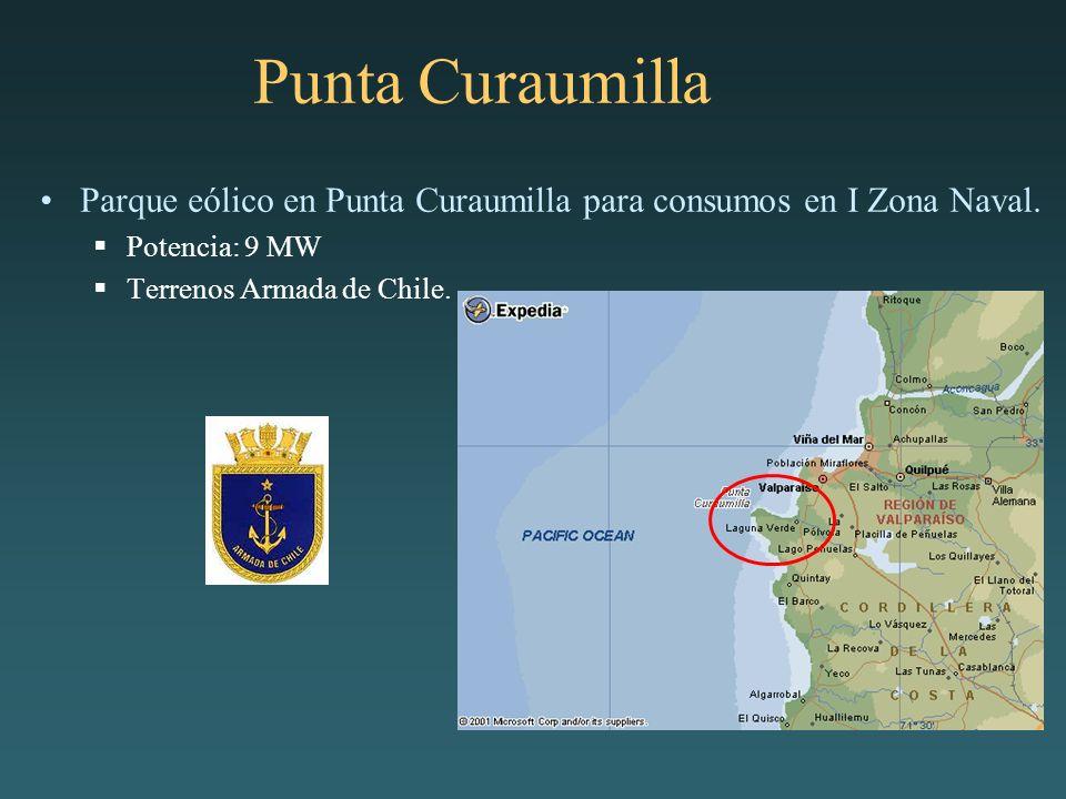 Punta Curaumilla Parque eólico en Punta Curaumilla para consumos en I Zona Naval.