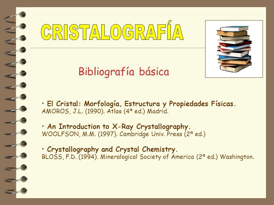 CRISTALOGRAFÍA Bibliografía básica