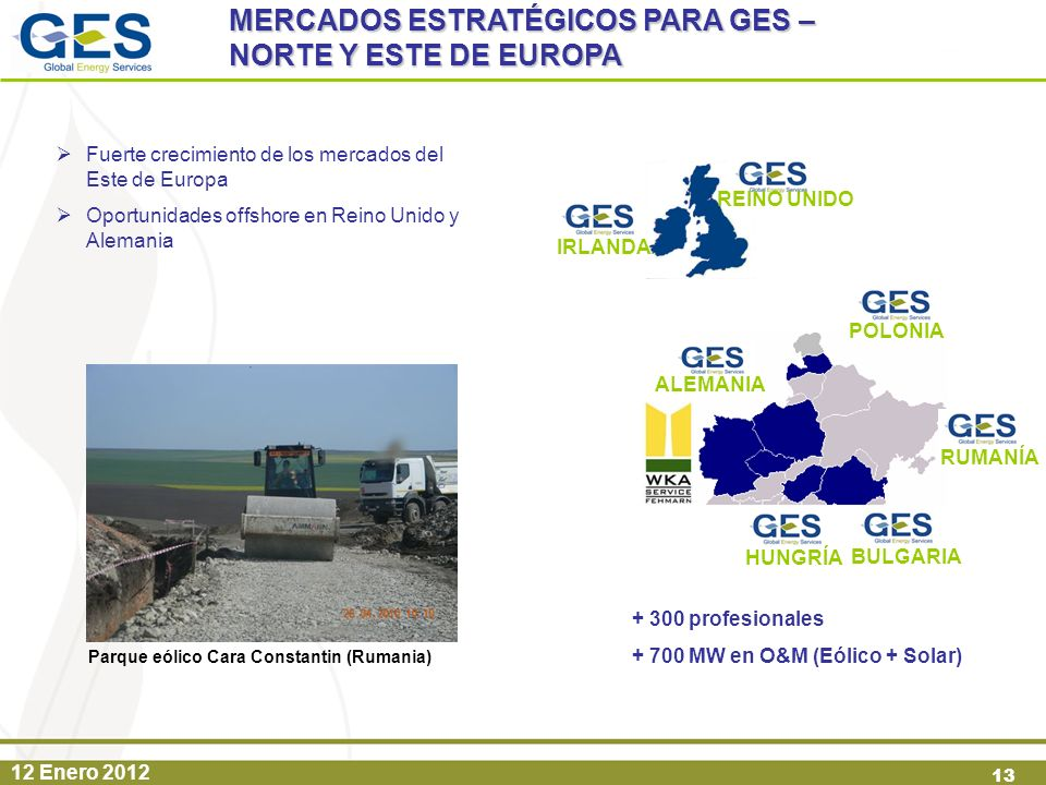 MERCADOS ESTRATÉGICOS PARA GES – NORTE Y ESTE DE EUROPA
