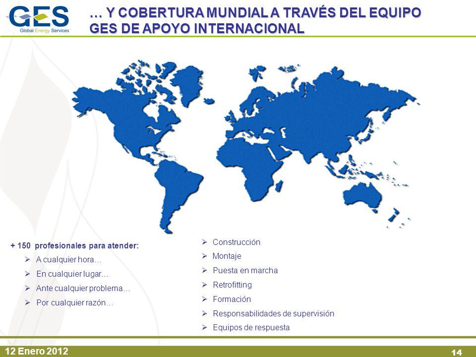 … Y COBERTURA MUNDIAL A TRAVÉS DEL EQUIPO GES DE APOYO INTERNACIONAL