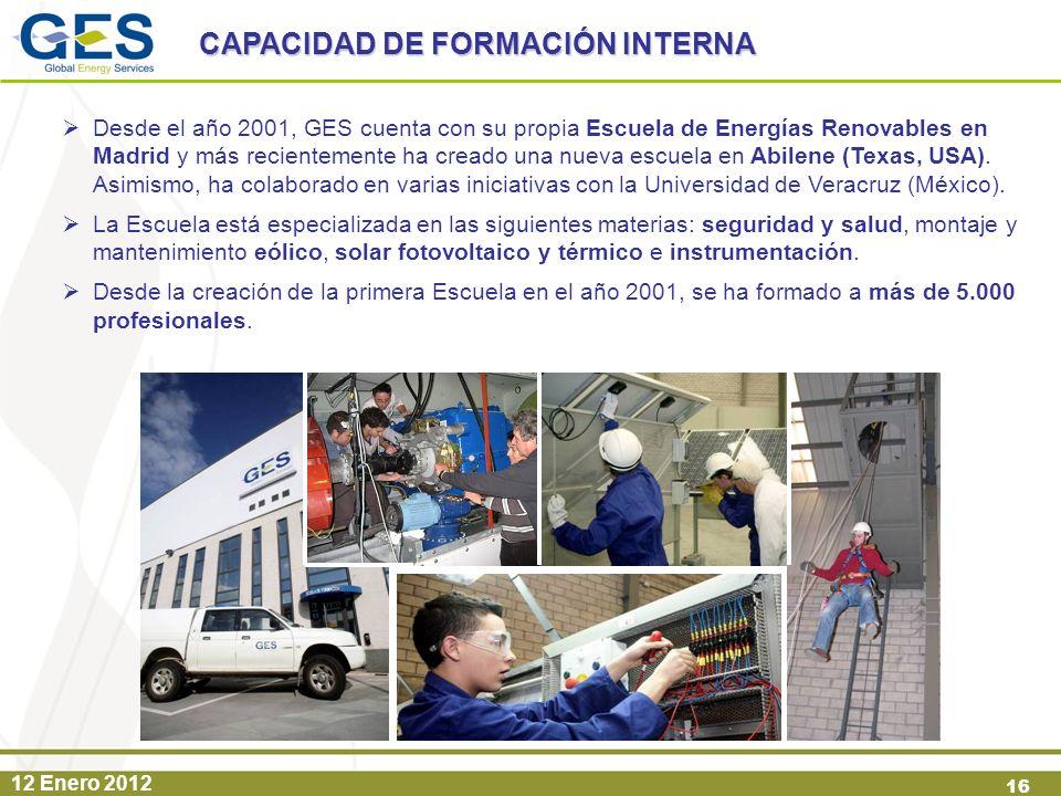 CAPACIDAD DE FORMACIÓN INTERNA