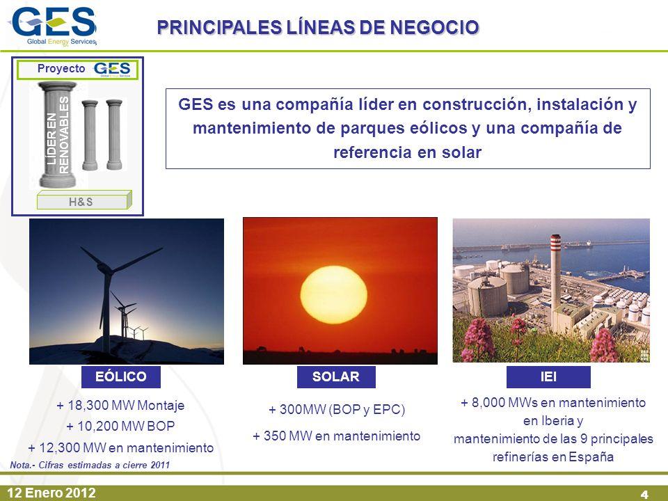 PRINCIPALES LÍNEAS DE NEGOCIO