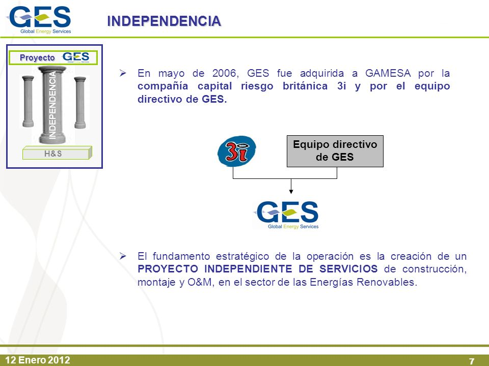 Equipo directivo de GES
