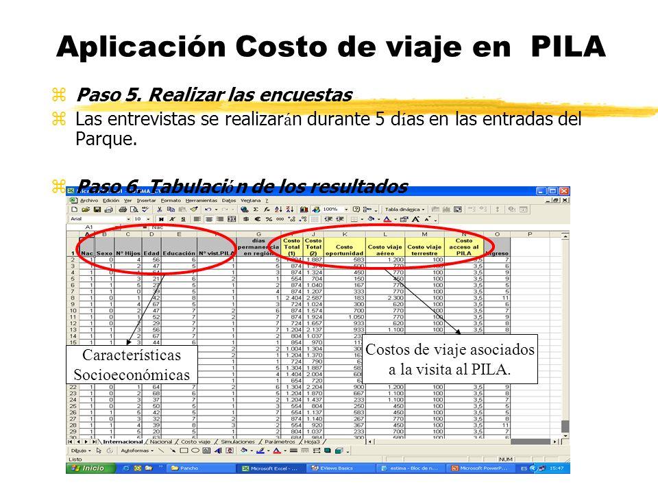 Aplicación Costo de viaje en PILA