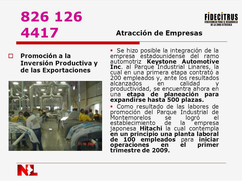826 126 4417 Atracción de Empresas.