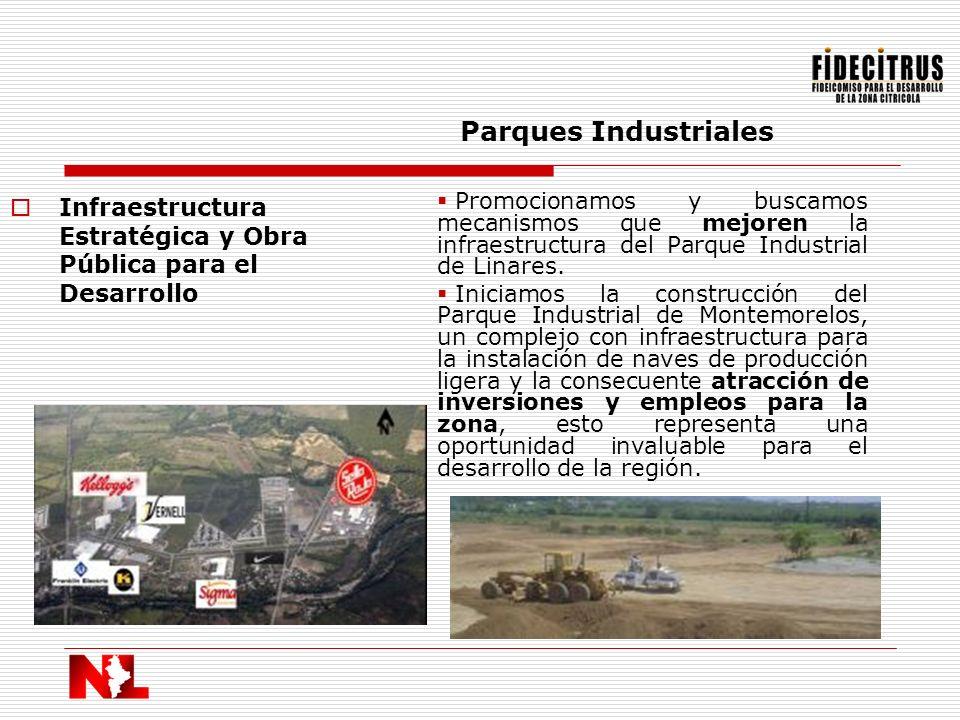 Parques Industriales Infraestructura Estratégica y Obra Pública para el Desarrollo.