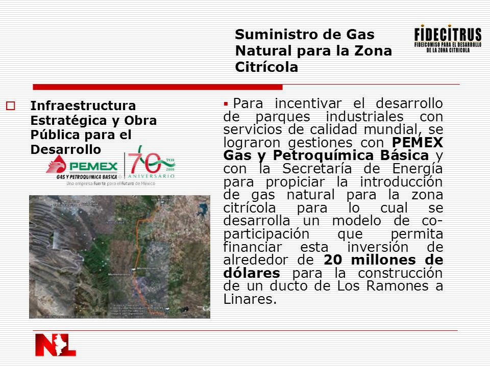 Suministro de Gas Natural para la Zona Citrícola