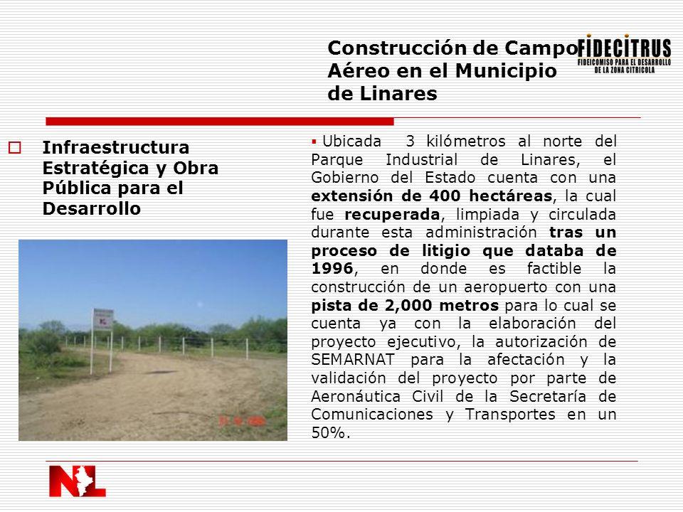 Construcción de Campo Aéreo en el Municipio de Linares
