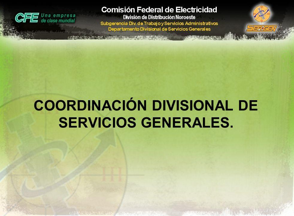 COORDINACIÓN DIVISIONAL DE SERVICIOS GENERALES.