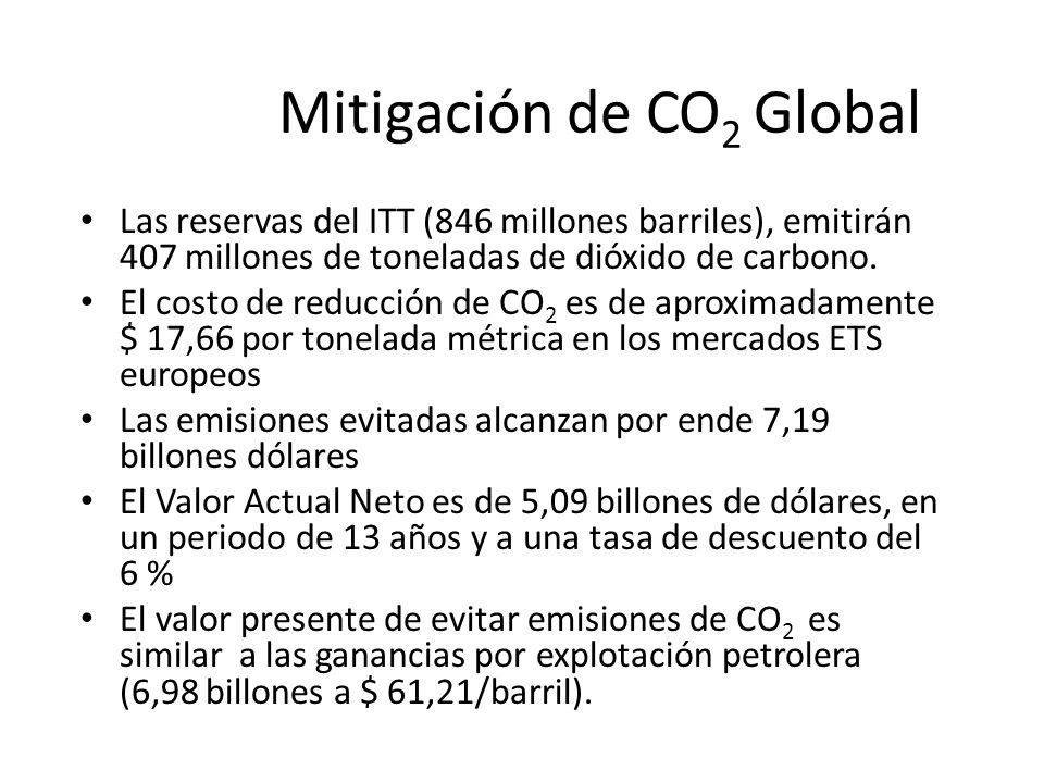 Mitigación de CO2 Global