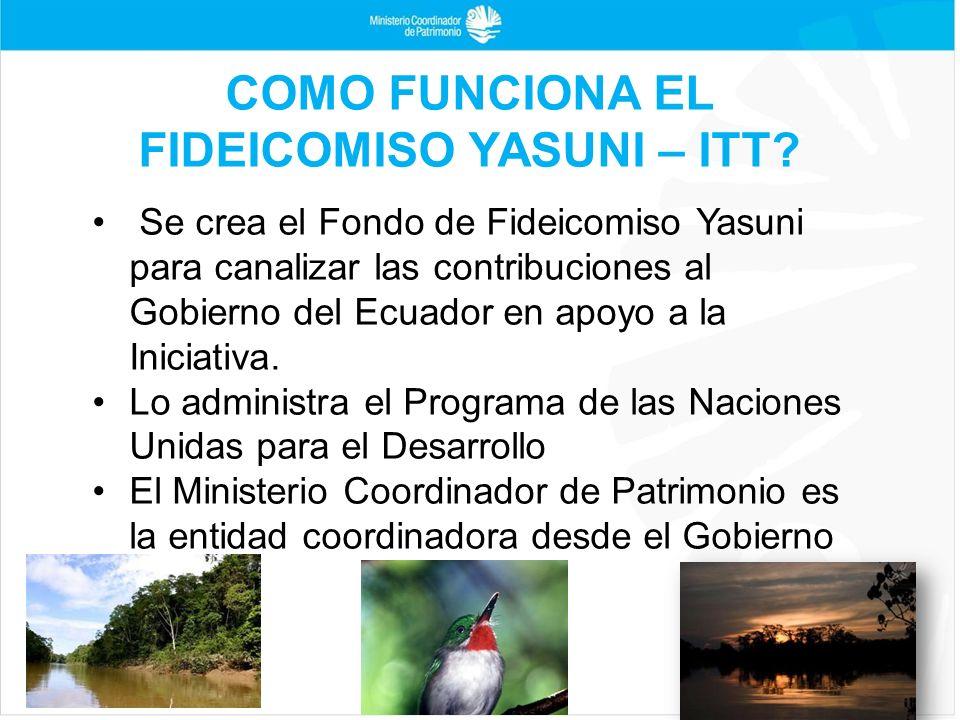 COMO FUNCIONA EL FIDEICOMISO YASUNI – ITT