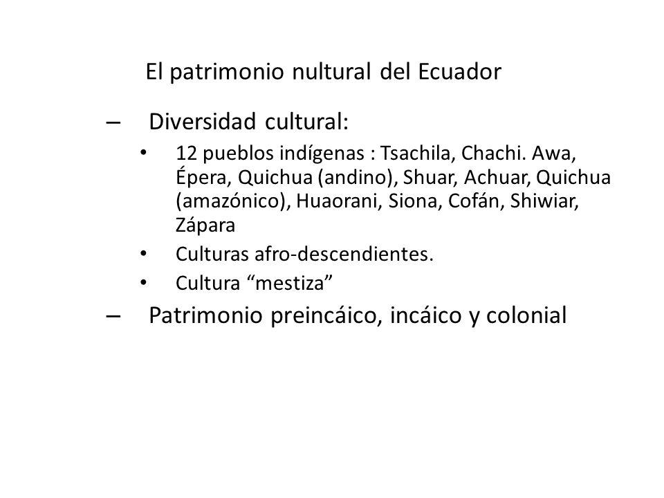 El patrimonio nultural del Ecuador