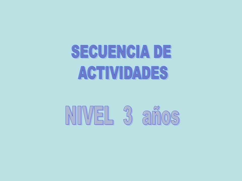 SECUENCIA DE ACTIVIDADES NIVEL 3 años