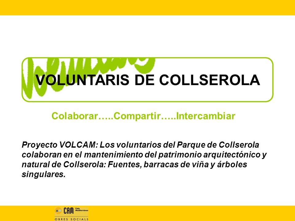 VOLUNTARIS DE COLLSEROLA