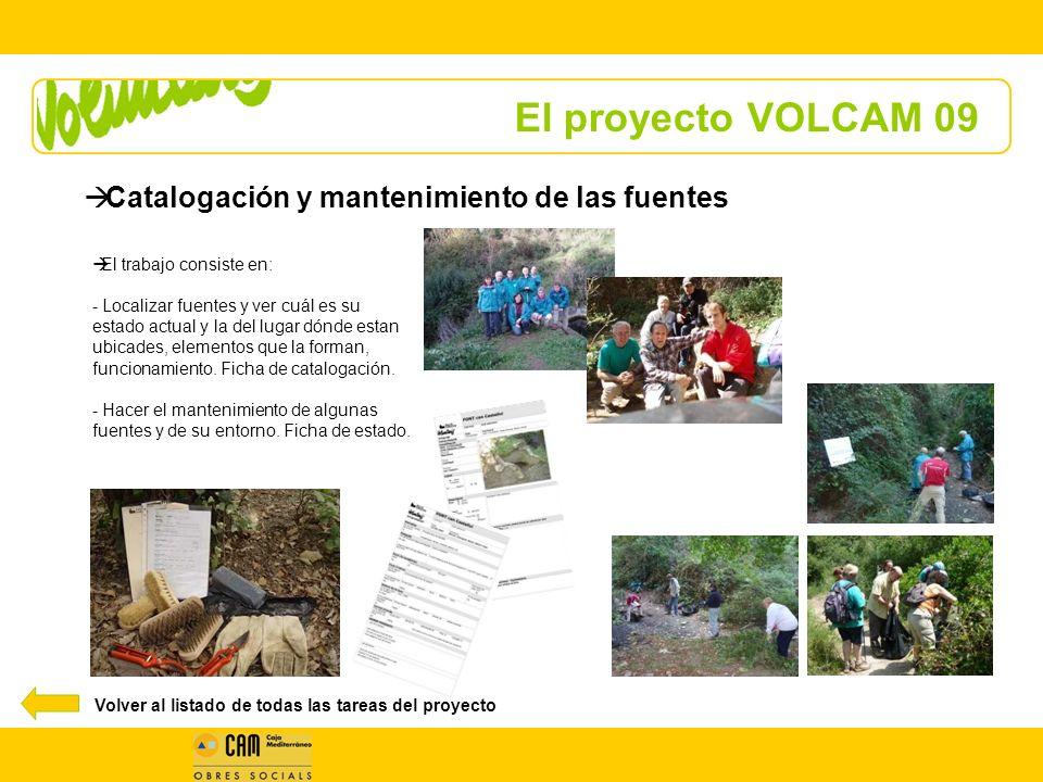 El proyecto VOLCAM 09 Catalogación y mantenimiento de las fuentes