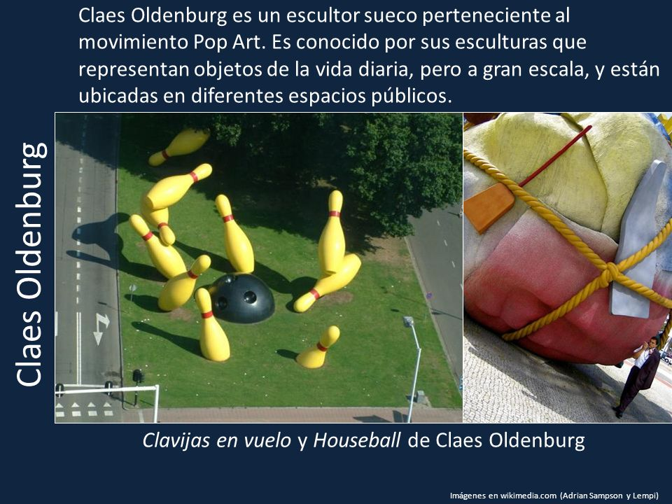 Clavijas en vuelo y Houseball de Claes Oldenburg