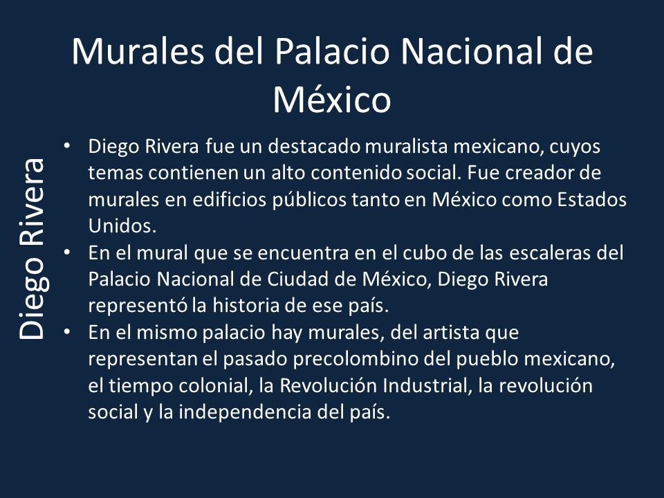 Murales del Palacio Nacional de México