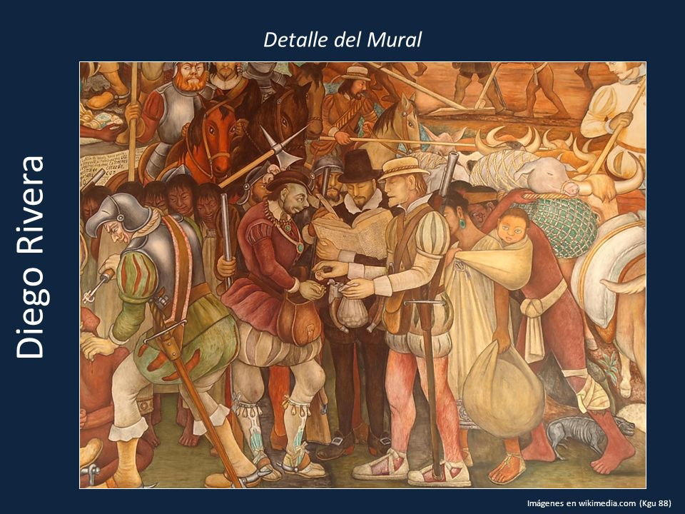 Detalle del Mural Diego Rivera Imágenes en wikimedia.com (Kgu 88)