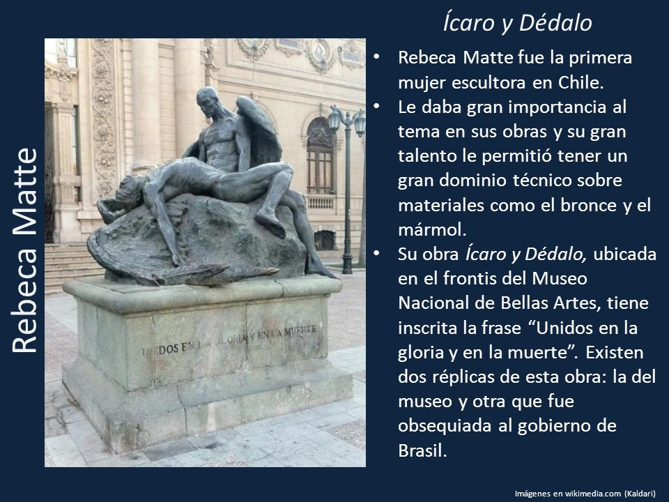Rebeca Matte Ícaro y Dédalo
