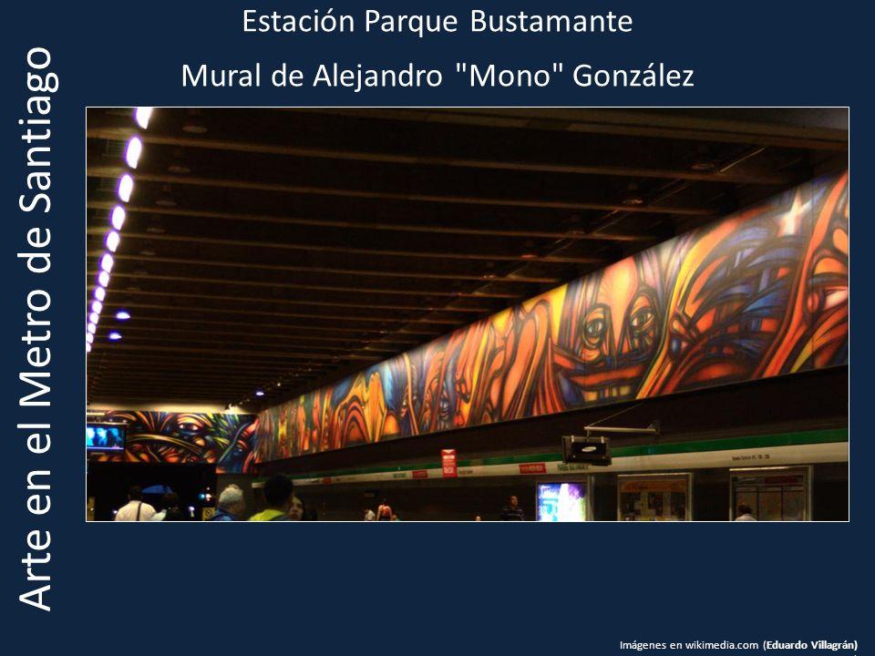 Estación Parque Bustamante Mural de Alejandro Mono González