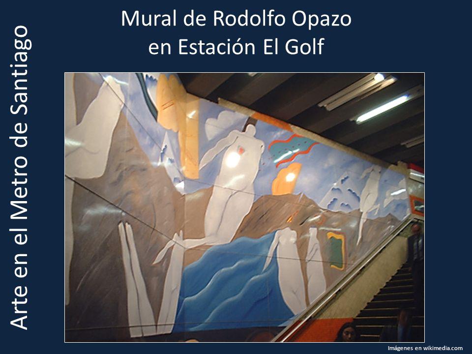 Mural de Rodolfo Opazo en Estación El Golf