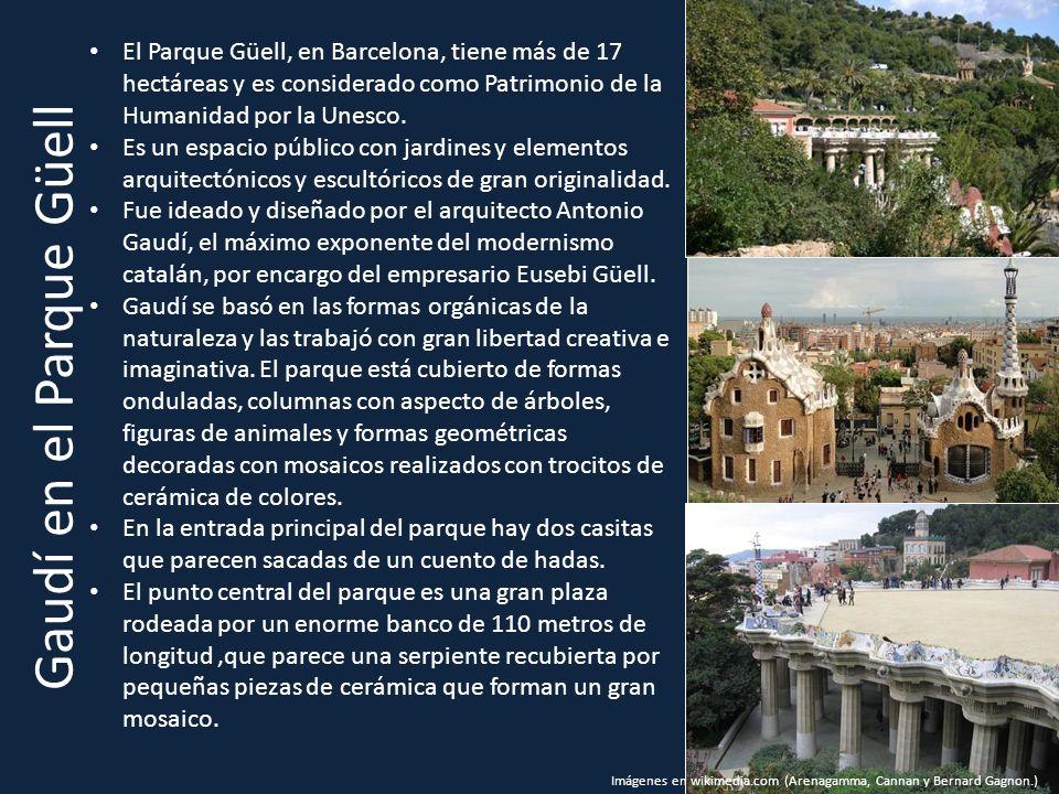 Gaudí en el Parque Güell