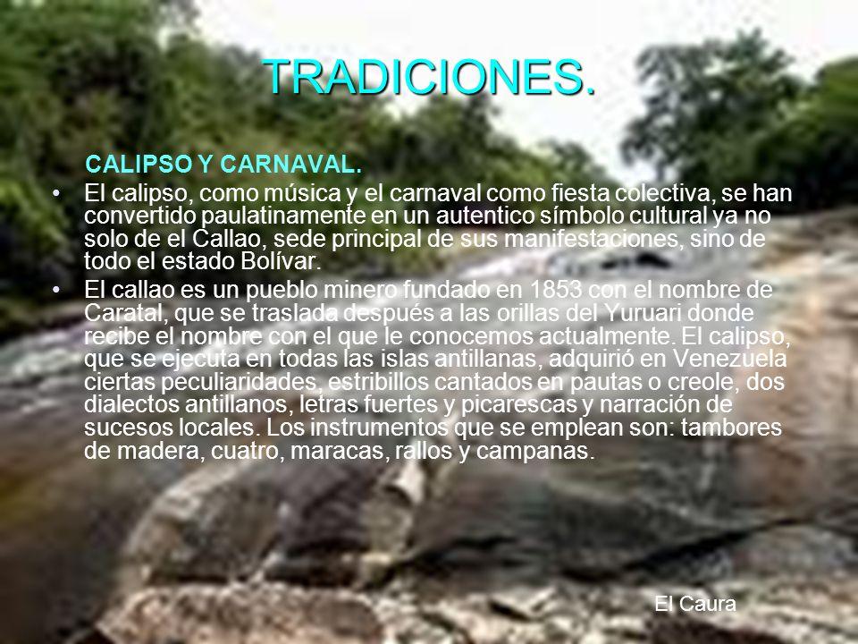 TRADICIONES. CALIPSO Y CARNAVAL.
