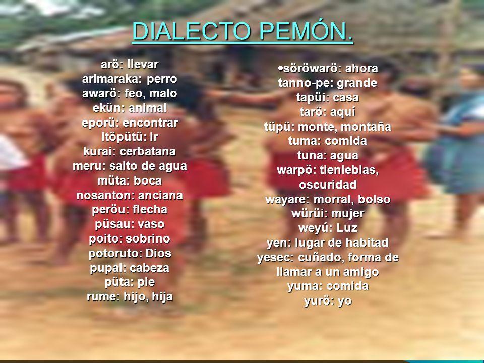 DIALECTO PEMÓN.