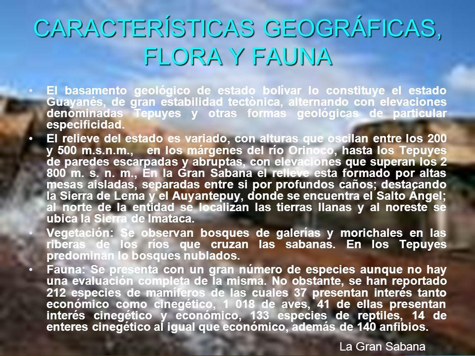 CARACTERÍSTICAS GEOGRÁFICAS, FLORA Y FAUNA