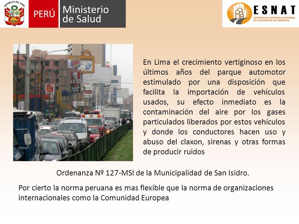 Ordenanza Nº 127-MSI de la Municipalidad de San Isidro.