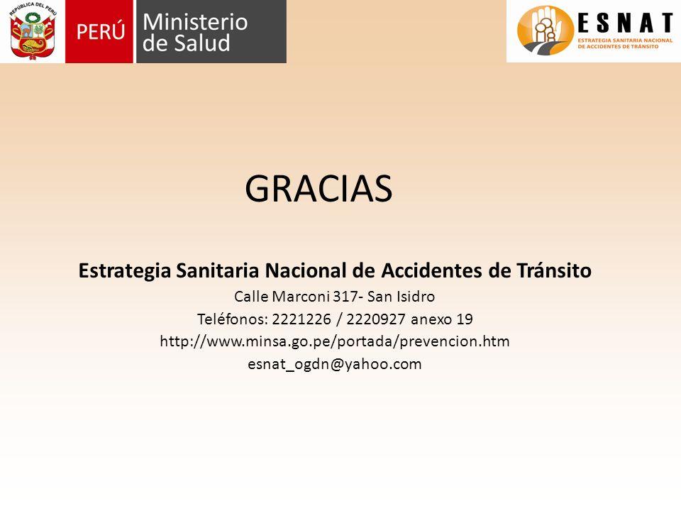 Estrategia Sanitaria Nacional de Accidentes de Tránsito
