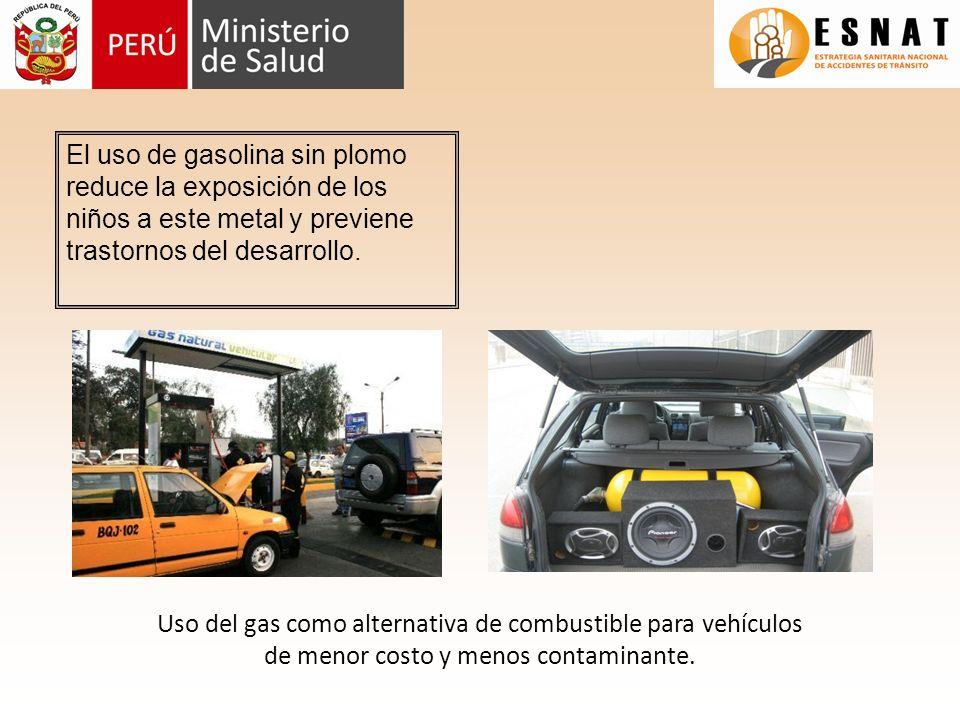 El uso de gasolina sin plomo reduce la exposición de los niños a este metal y previene trastornos del desarrollo.