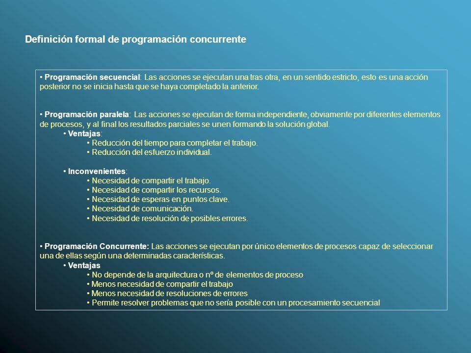Definición formal de programación concurrente