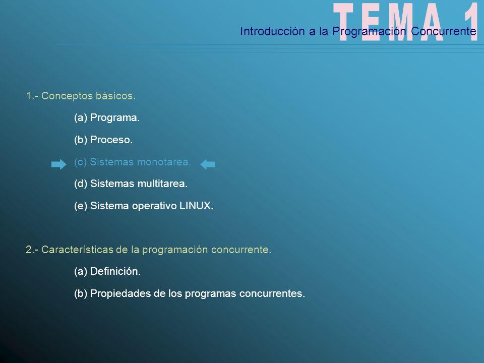 TEMA 1 Introducción a la Programación Concurrente