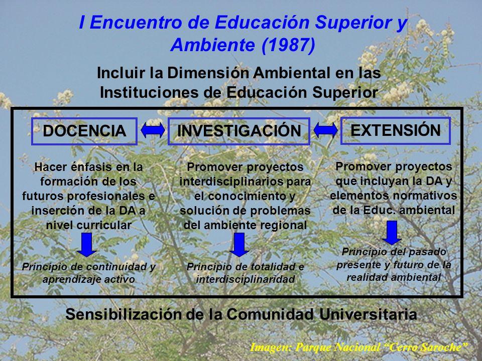 I Encuentro de Educación Superior y Ambiente (1987)