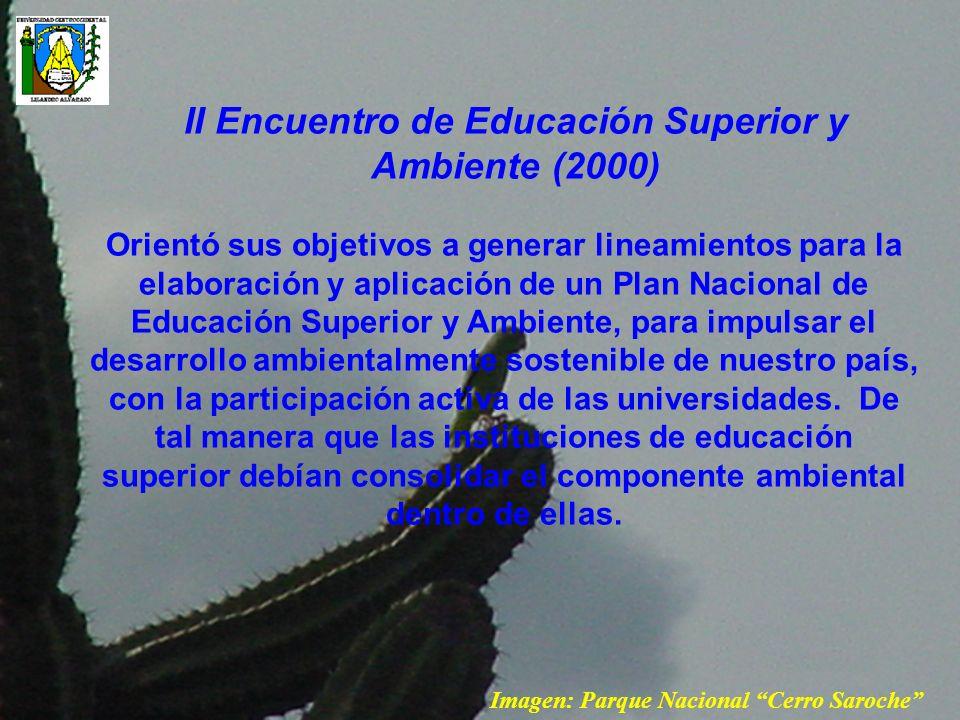 II Encuentro de Educación Superior y Ambiente (2000)