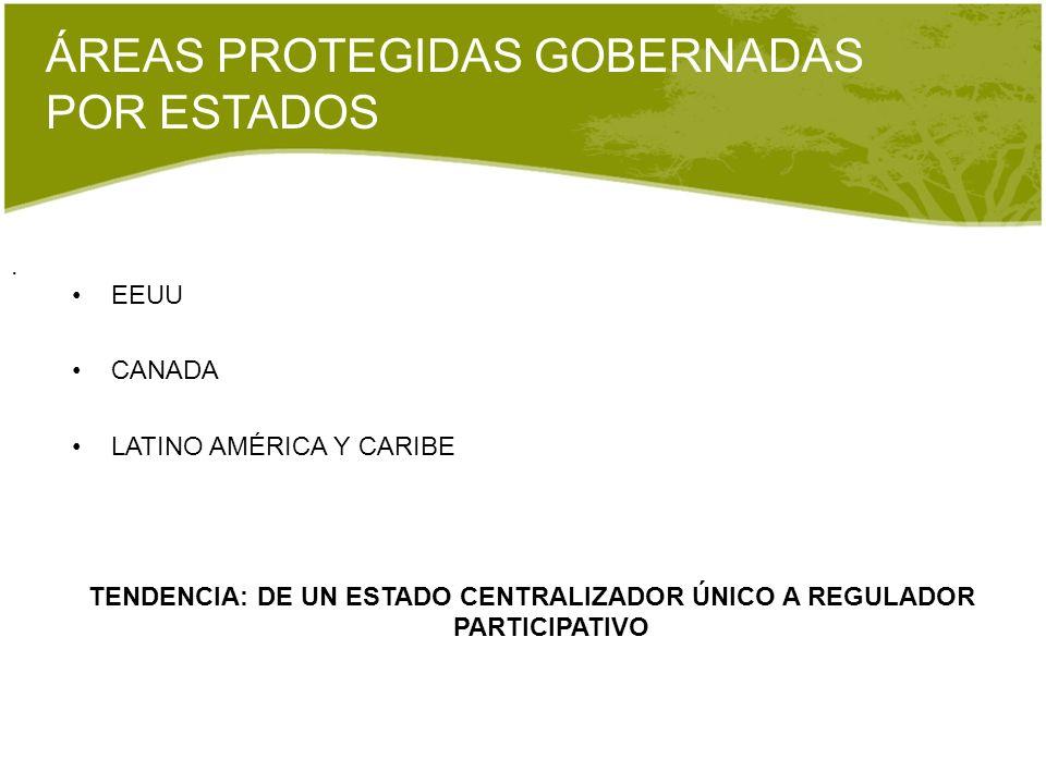 ÁREAS PROTEGIDAS GOBERNADAS POR ESTADOS