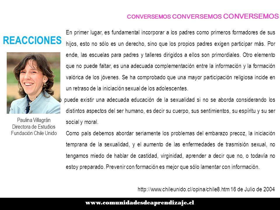 Paulina Villagrán Directora de Estudios