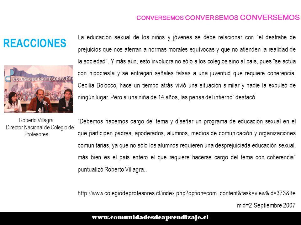 Roberto Villagra Director Nacional de Colegio de Profesores