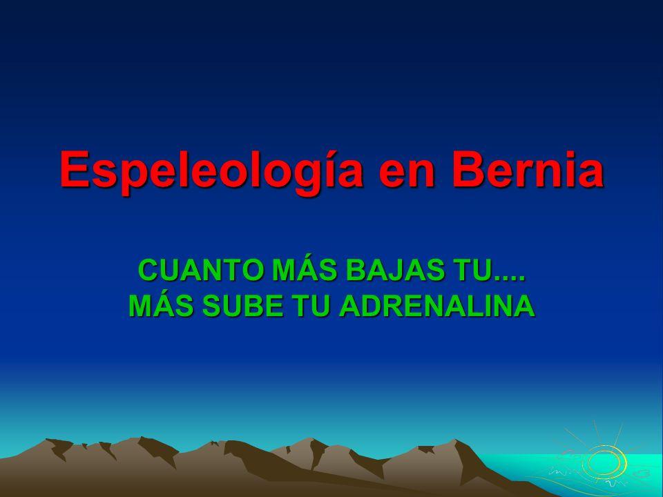 Espeleología en Bernia
